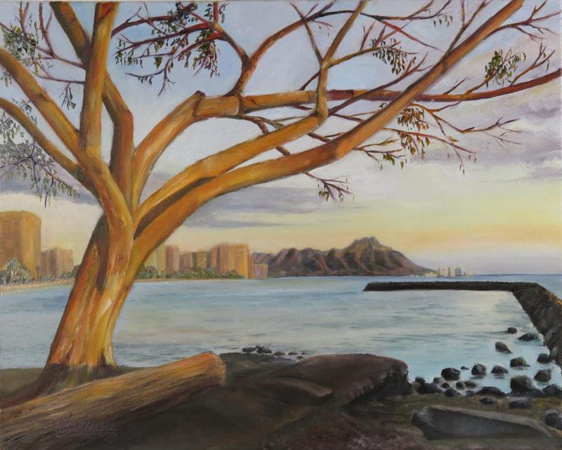 Sunset at Kahanamoku Beach
