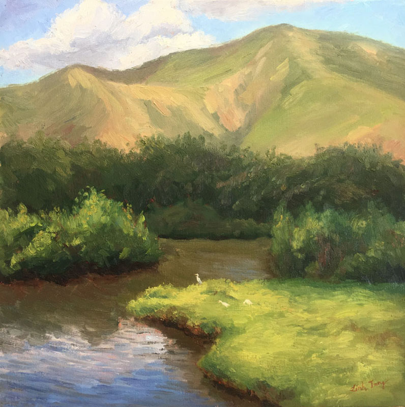 "Kawainui Marsh 2: Peace Oil on canvas 20""X20"""