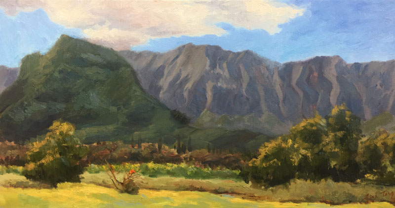 "Kawainui Marsh 3: Home Oil on canvas 15""X30"""